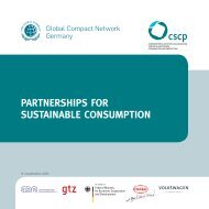 Partnerships for Sustainable Consumption - Collaborating Centre on ...