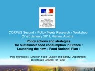 Mennecier 2011 Policy actions and strategies for sustainable food ...