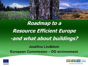 Roadmap to a Resource Efficient Europe - The SCP Knowledge Hub