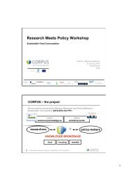 Research Meets Policy Workshop - The SCP Knowledge Hub