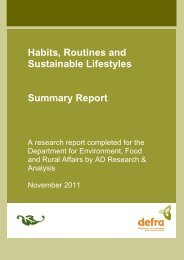 Habits, Routines and Sustainable Lifestyles Summary Report