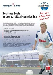 Business Seats in der 2. Fußball-Bundesliga - SC Paderborn 07