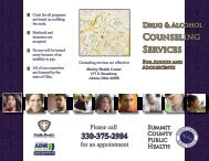Counseling Services - Summit County Public Health