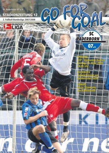 STADIONZEITUNG 12 - SC Paderborn 07