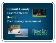 Summit County Environmental Health Preliminary ... - Healthy Summit