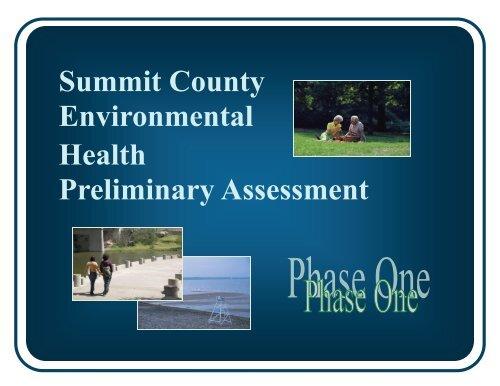 Summit County Environmental Health Preliminary ... - Healthy Summit