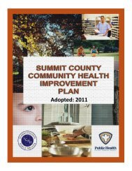 Adopted: 2011 - Summit County Public Health
