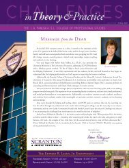 Message from the Dean - The University of Scranton