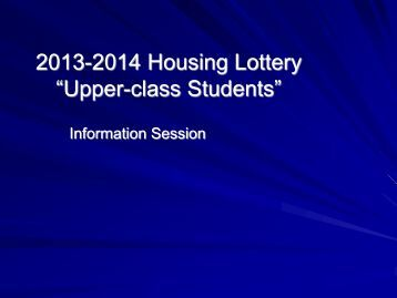 2005-2006 Housing Lottery