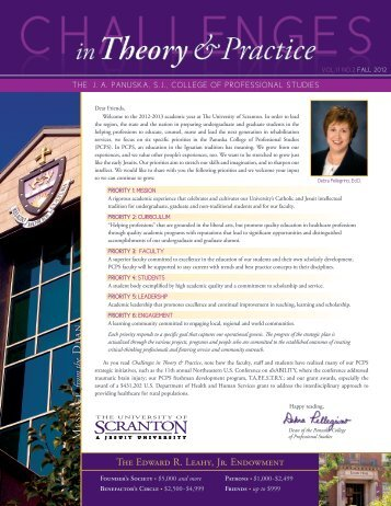 Fall 2012 - The University of Scranton