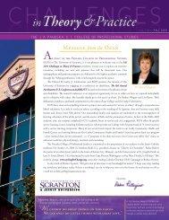 Fall 2009 - The University of Scranton