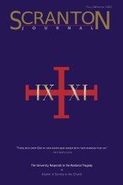 Journal Winter 2001 - The University of Scranton