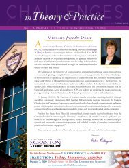 Transition: Today, Tomorrow, Together - The University of Scranton