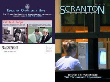 summer 2001 - The University of Scranton
