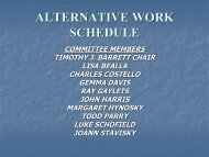 ALTERNATIVE WORK SCHEDULE - The University of Scranton