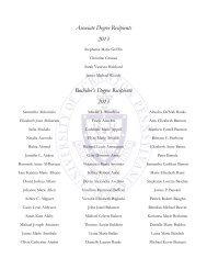 Associate Degree Recipients 2013 Bachelor's Degree Recipients ...