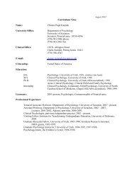 Download Curriculum Vitae - The University of Scranton