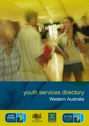 youth services directory - AMA WA