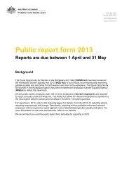 Health Training Australia – 2013 WGEA Report - AMA WA
