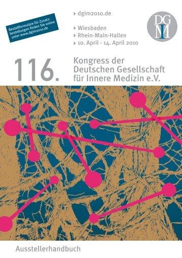 116. Kongress der Deutschen Gesellschaft für Innere ... - DGIM 2010