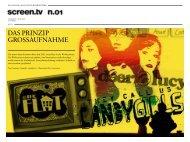 DAS PRINZIP GROSSAUFNAHME - ausgabe 01/juni 2009