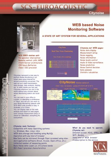 WEB based Noise Monitoring Software - Scs-controlsys.com