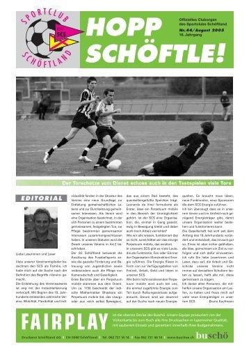 Hopp Schöftle Nr. 44 / August 2005 - SC Schöftland