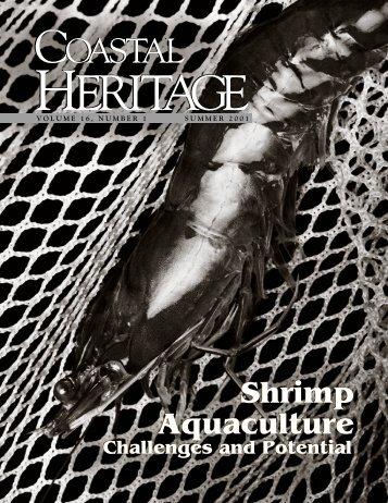 Coastal Heritage —Summer 2001 - SC Sea Grant Consortium