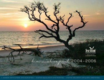 2004-2006 Biennial Report (PDF) - SC Sea Grant Consortium