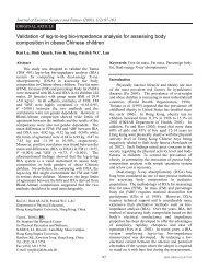 Validation of leg-to-leg bio-impedance analysis for ... - SCSEPF