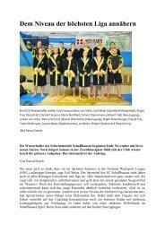 Dem Niveau der höchsten Liga annähern - Schwimmclub ...