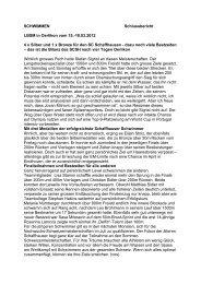 SCHWIMMEN Schlussbericht LBSM in Oerlikon vom 15.-18.03.2012 ...