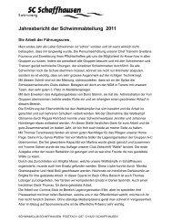 Jahresbericht der Schwimmabteilung 2011 - Schwimmclub ...