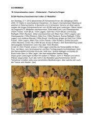 SCHWIMMEN 16. Internationales Junior – Hohentwiel – Festival in ...
