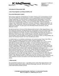 Jahresbericht Wasserball 2009 Liebe Clubmitglieder und ...