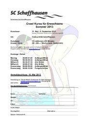 Crawl Kurse für Erwachsene Sommer 2013 - Schwimmclub ...