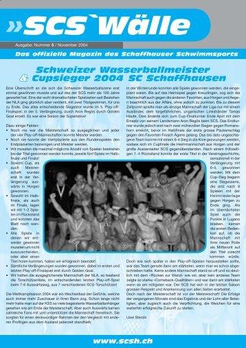 SCS`Wälle - Schwimmclub Schaffhausen