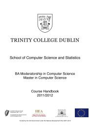 School of Computer Science and Statistics - Trinity College Dublin