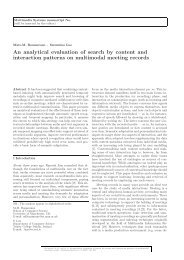 An analytical evaluation of search by content and - School of ...