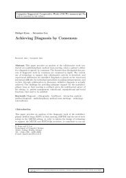 Achieving Diagnosis by Consensus - School of Computer Science ...