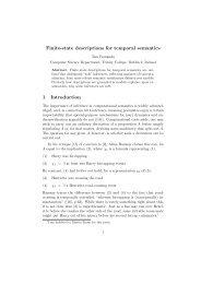 Finite-state descriptions for temporal semantics 1 Introduction