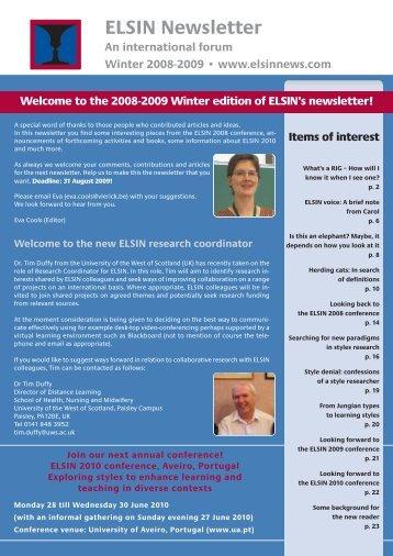 elsin newsletter 2009_MR.pdf - JISCMail