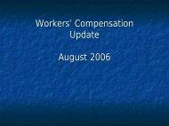 Workers' Compensation Update