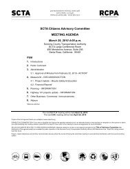 Citizens Advisory Committee Meeting Agenda for March 29, 2010