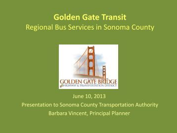 Golden Gate Transit Presentation - Sonoma County Transportation ...