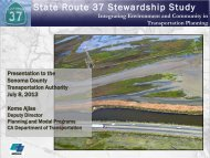State Route 37 Presentation by Caltrans - Sonoma County ...