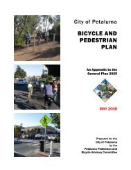 Petaluma Bicycle & Pedestrian Master Plan - Sonoma County ...