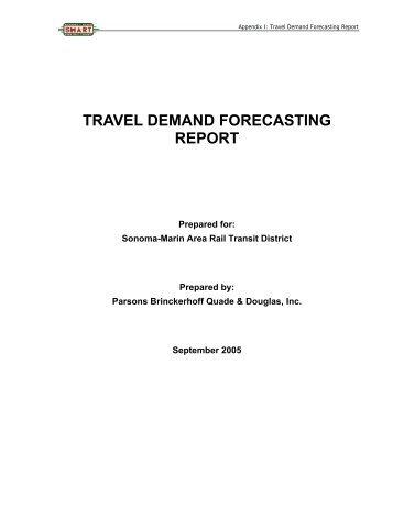 travel demand forecasting report - Sonoma County Transportation ...