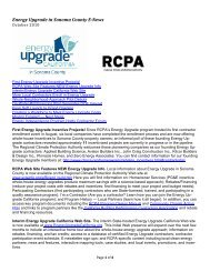 Energy Upgrade in Sonoma County E-News October 2010