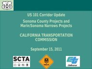 U.S. Corridor 101 Update - Sonoma County Transportation Authority